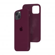 Силиконовый чехол c закрытым низом Apple Silicone Case для iPhone 13 Marsala
