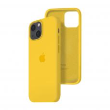 Силиконовый чехол c закрытым низом Apple Silicone Case для iPhone 13 Yellow