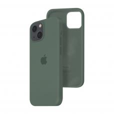 Силиконовый чехол c закрытым низом Apple Silicone Case для iPhone 13 Pine Green