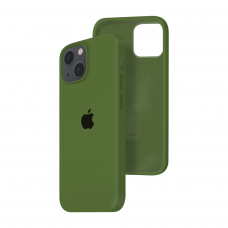 Силиконовый чехол c закрытым низом Apple Silicone Case для iPhone 13 Virid