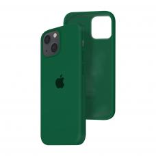 Силиконовый чехол c закрытым низом Apple Silicone Case для iPhone 13 Dark Virid