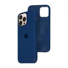 Силиконовый чехол c закрытым низом Apple Silicone Case для iPhone 13 Pro Deep Navy