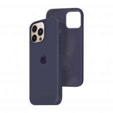 Силиконовый чехол c закрытым низом Apple Silicone Case для iPhone 13 Pro Midnight Blue