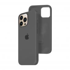 Силиконовый чехол c закрытым низом Apple Silicone Case для iPhone 13 Pro Charcoal Gray