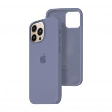 Силиконовый чехол c закрытым низом Apple Silicone Case для iPhone 13 Pro Lavender Gray