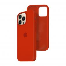 Силиконовый чехол c закрытым низом Apple Silicone Case для iPhone 13 Pro Red
