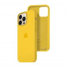 Силиконовый чехол c закрытым низом Apple Silicone Case для iPhone 13 Pro Yellow