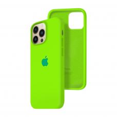 Силиконовый чехол c закрытым низом Apple Silicone Case для iPhone 13 Pro Juicy Green