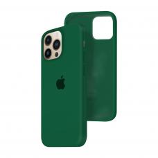 Силиконовый чехол c закрытым низом Apple Silicone Case для iPhone 13 Pro Dark Virid