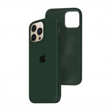 Силиконовый чехол c закрытым низом Apple Silicone Case для iPhone 13 Pro Forest Green