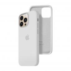 Силиконовый чехол c закрытым низом Apple Silicone Case для iPhone 13 Pro White