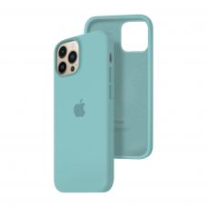 Силиконовый чехол c закрытым низом Apple Silicone Case для iPhone 13 Pro Max Sea Blue