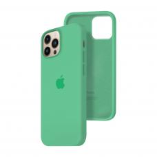 Силиконовый чехол c закрытым низом Apple Silicone Case для iPhone 13 Pro Max Spear Mint