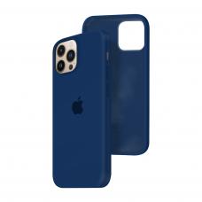 Силиконовый чехол c закрытым низом Apple Silicone Case для iPhone 13 Pro Max Deep Navy