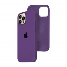 Силиконовый чехол c закрытым низом Apple Silicone Case для iPhone 13 Pro Max Purple