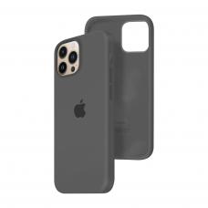 Силиконовый чехол c закрытым низом Apple Silicone Case для iPhone 13 Pro Max Charcoal Gray