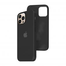 Силиконовый чехол c закрытым низом Apple Silicone Case для iPhone 13 Pro Max Black