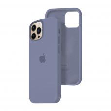 Силиконовый чехол c закрытым низом Apple Silicone Case для iPhone 13 Pro Max Lavender Gray