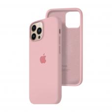 Силиконовый чехол c закрытым низом Apple Silicone Case для iPhone 13 Pro Max Light Pink