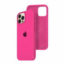 Силиконовый чехол c закрытым низом Apple Silicone Case для iPhone 13 Pro Max Barbie Pink