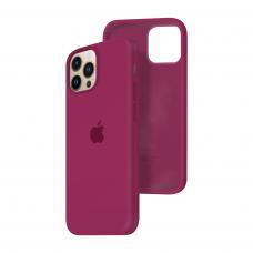 Силиконовый чехол c закрытым низом Apple Silicone Case для iPhone 13 Pro Max Rose Red