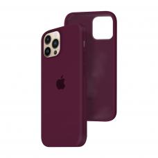 Силиконовый чехол c закрытым низом Apple Silicone Case для iPhone 13 Pro Max Marsala