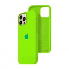 Силиконовый чехол c закрытым низом Apple Silicone Case для iPhone 13 Pro Max Juicy Green