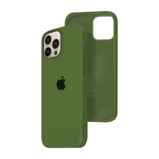 Силиконовый чехол c закрытым низом Apple Silicone Case для iPhone 13 Pro Max Virid