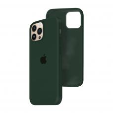 Силиконовый чехол c закрытым низом Apple Silicone Case для iPhone 13 Pro Max Forest Green