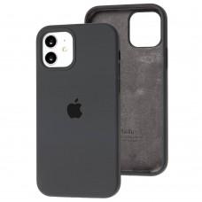 Чехол для iPhone 12 / 12 Pro Silicone Full серый / dark grey