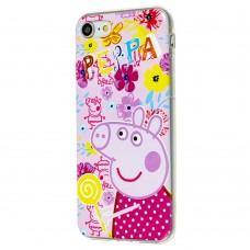 Чехол для iPhone 7 / 8 с принтом свинка пеппа