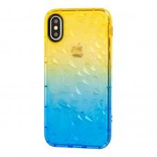 Чехол Gradient Gelin для iPhone X / Xs case желто-синий