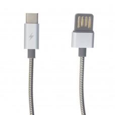 Кабель USB Remax RC-080a Serpent Type-C стальной