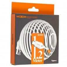 Кабель USB Moxom MX-CB40 Type-C 1,2m белый