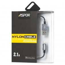 Кабель USB для iPhone 5 / 6 Aspor A128 серый