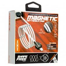 Кабель USB Moxom MX-CB46 Type-C magnetic 2.4A 1m белый