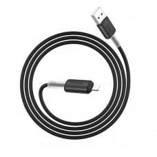 Кабель Hoco X48 Soft Silicone Lightning 2.4A 1m черный