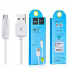 Кабель USB Hoco X1 Rapid microUSB 1m белый
