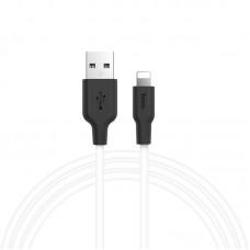Кабель USB Hoco X21 Silicone Lightning 2A 1m белый