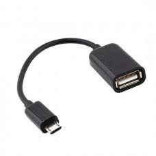 Переходник otg microUSB to USB черный