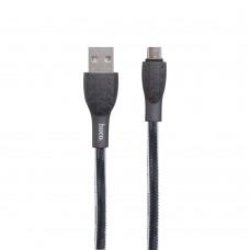 Кабель USB Hoco U52 Bright microUSB черный