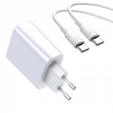 Сетевое зарядное устройство Baseus Speed PPS (Type-C to Type-C) 30W белый