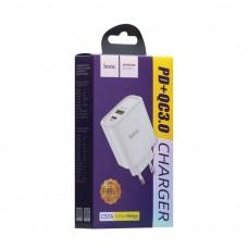 Сетевое зарядное устройство адаптер Hoco C57A PD+QC3.0 белый