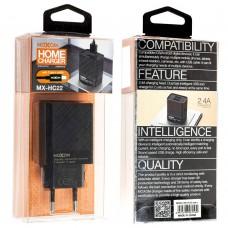 Сетевое зарядное устройство Moxom MX-HC22 Type-C 2USB/2.4A черный