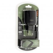 Сетевое зарядное устройство Moxom MX-HC30 lightning 2USB/2.4A Auto-ID черный