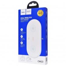 Беспроводное зарядное устройство Hoco CW23 2in1 Dual Power Type-C 10W белый