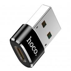 Переходник Hoco UA6 USB to Type-C черный