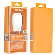 Сетевое зарядное устройство Moxom KH-34 lightning 1USB/2.4A белый