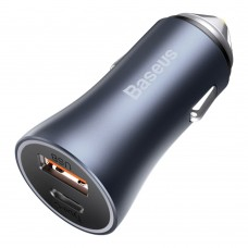 Автомобильное ЗУ адаптер Baseus Golden Contactor Pro 40W USB+Type-C серый
