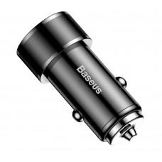 Автомобильное ЗУ адаптер Baseus Small Screw QC3.0 3A 36W черный